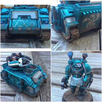 Alpha Legion Whirlwind Scorpius and Apothecary by ak1508