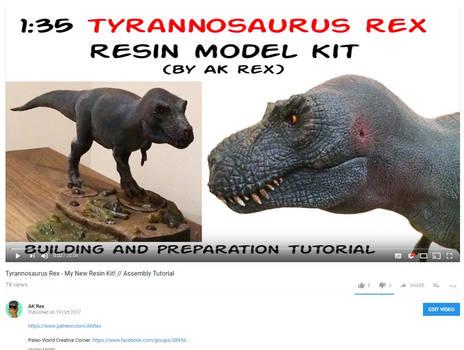 Tyrannosaurus Rex 1:35 scale - my first resin kit!