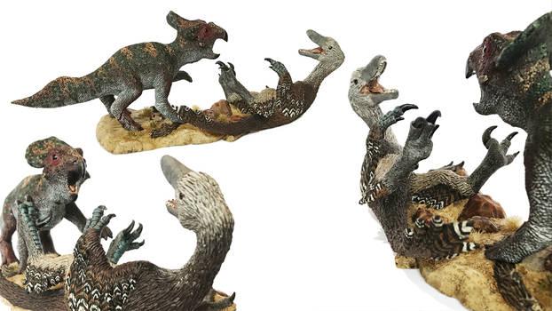Velociraptor vs Protoceratops resin kit by ak1508