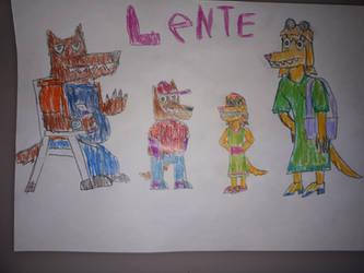Dog Family Lente.