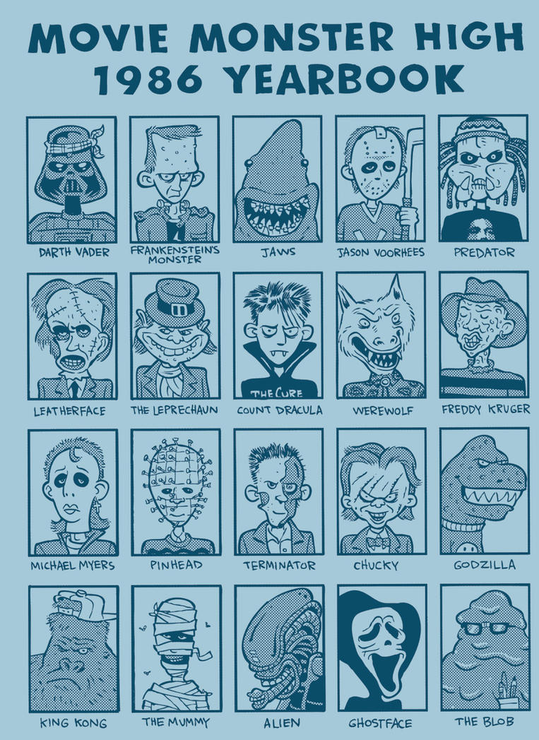 Movie Monster High 1986 Yearbook by thegreck