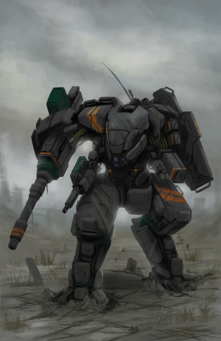 CGMA Mecha Contest Entry(Combat Mech) by ianskie1