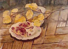pomegranate by ayjaja