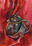 Teapot with red