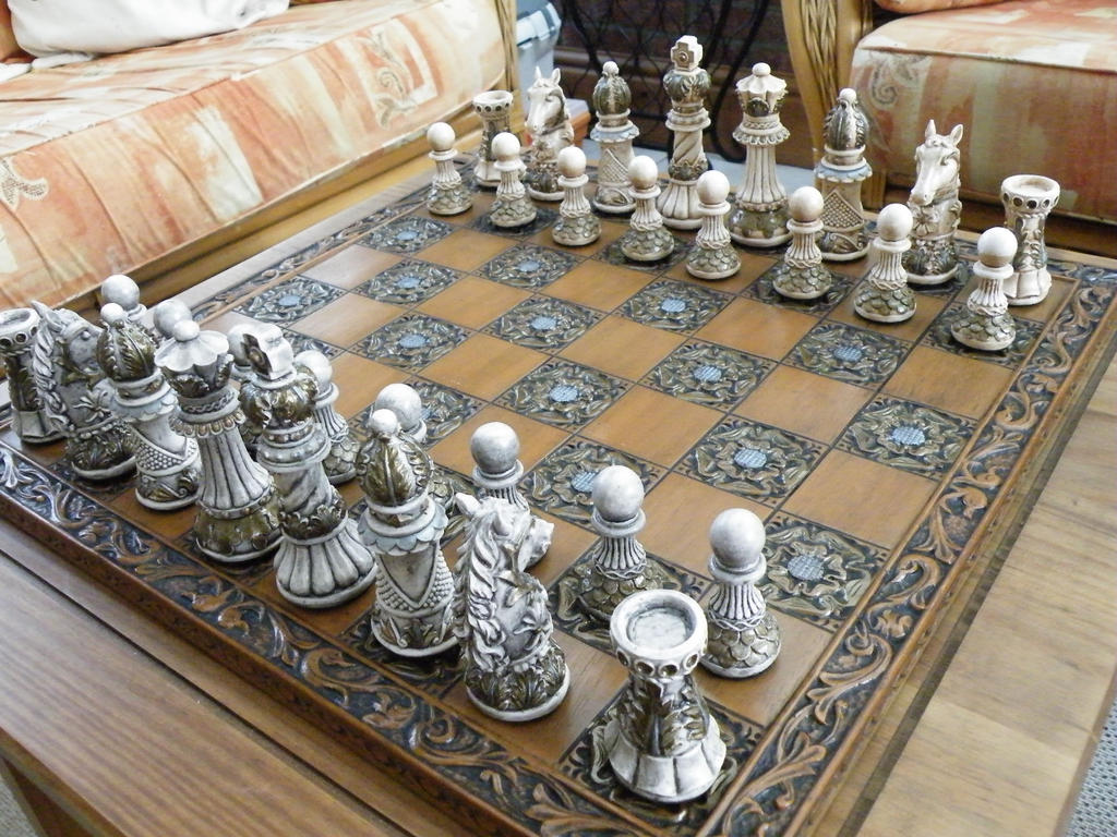 Ornate Themed Chess Set Matching Board By Littleme1969 On