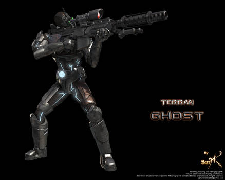 Terran Ghost with Rifle