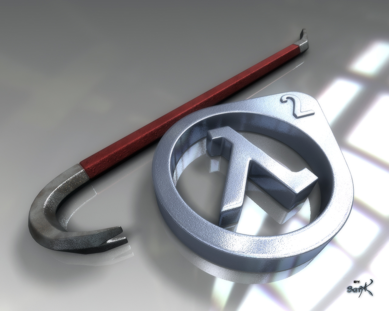 Half-Life 2 Crowbar and Lambda by SgtHK on DeviantArt
