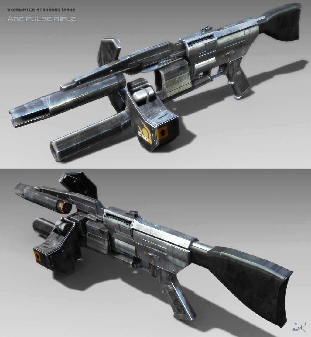 De AAA jusquas ZZZ Overwatch_Pulse_Rifle_Textured_by_SgtHK
