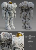 StarCraft II Terran Marine by SgtHK