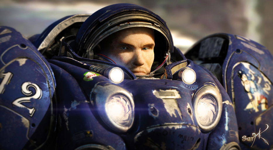 Terran Marine Face by SgtHK