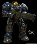 Terran Marine With Gun