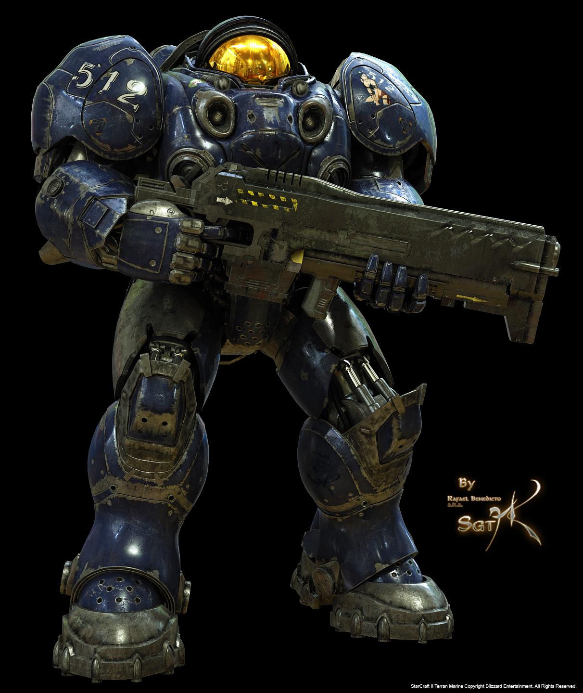 Terran Marine With Gun by SgtHK