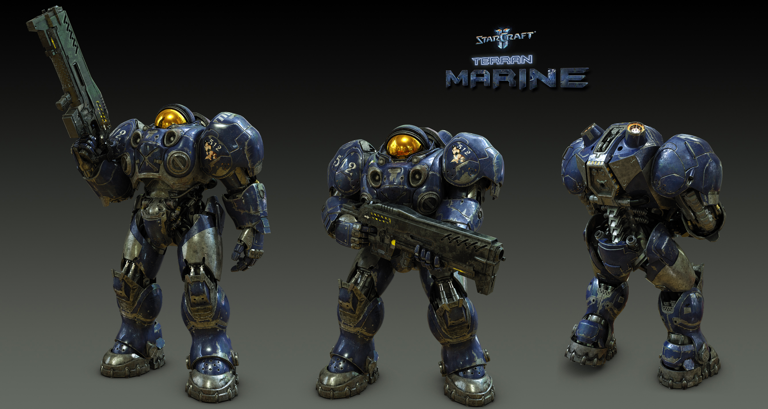 starcraft ii terran marine gauss rifle 3dtotal forums. Black Bedroom Furniture Sets. Home Design Ideas