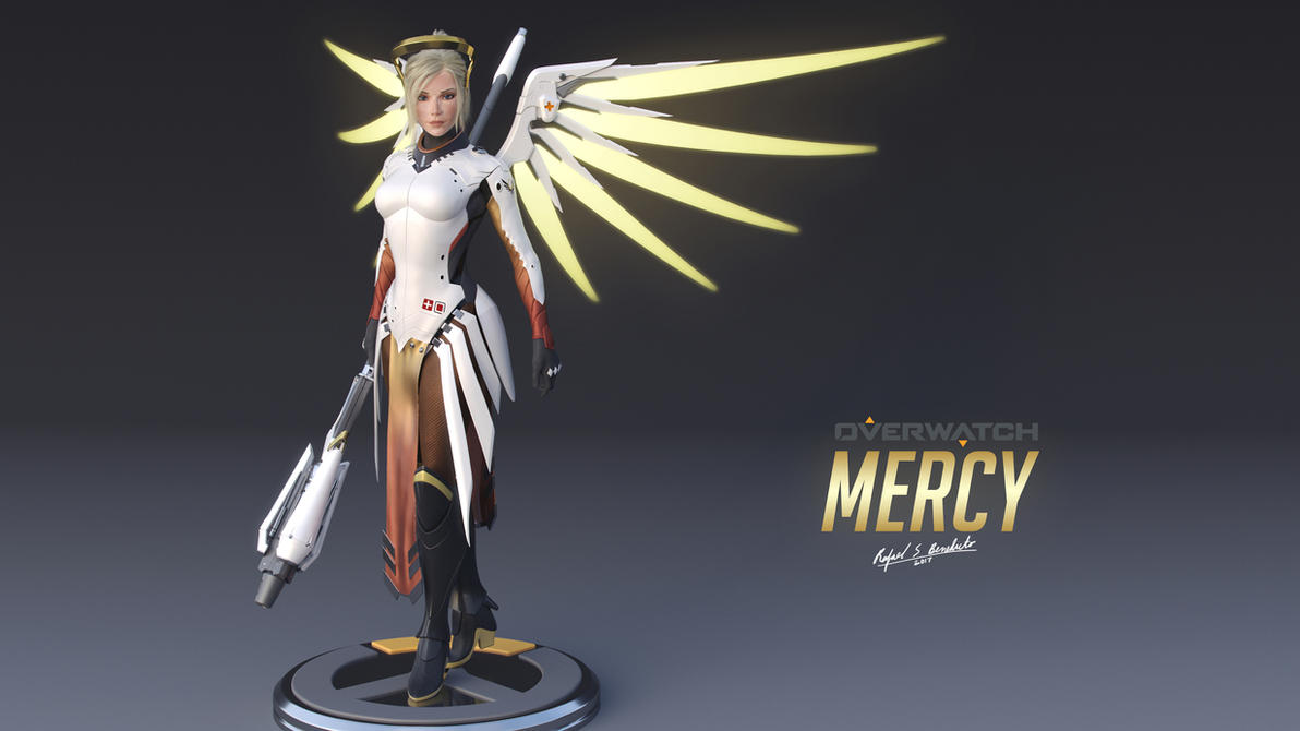 Overwatch - MERCY (16:9 wallpaper) by SgtHK
