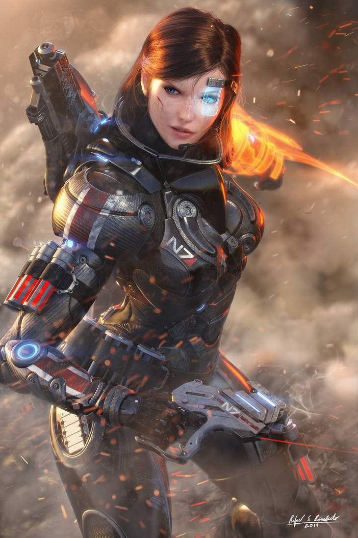 Commander Shepard - Through Smoke and Fire by SgtHK