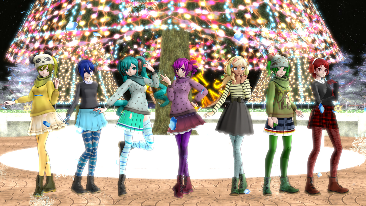 Mmd Yandere Simulator Christmas Winter Pack Dl By