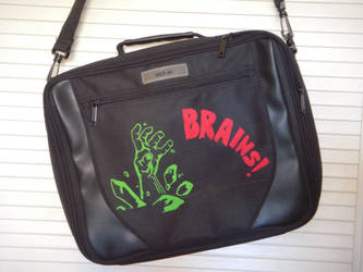 zombie computer bag by VespaChis