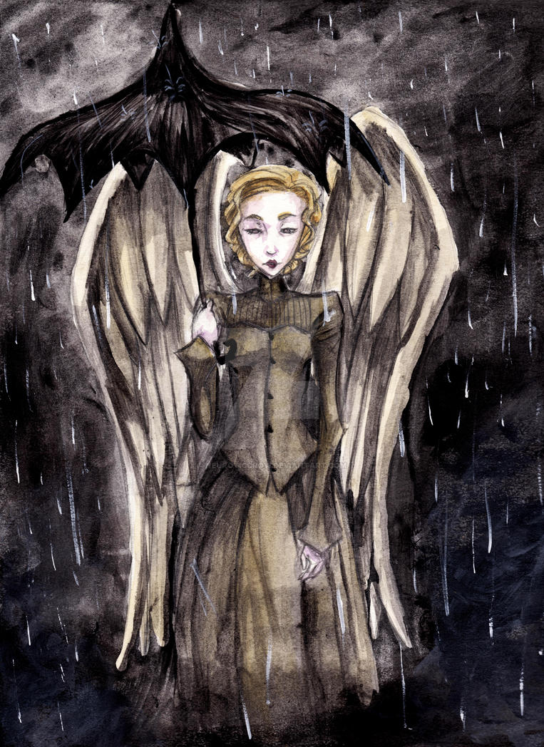 A Gray Angel in the Rain by NeuroticCrow