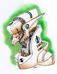 Badass robot head 02 BISHOP