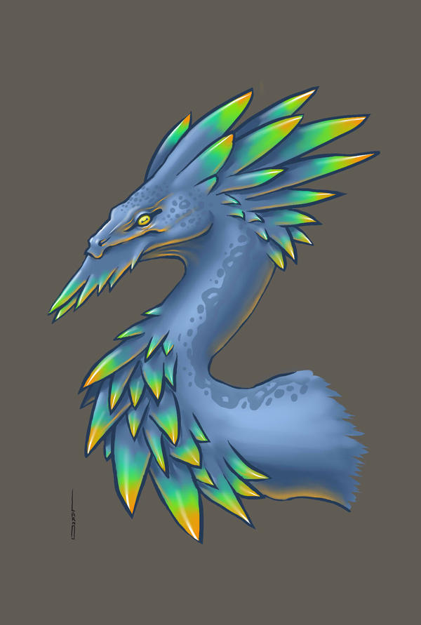 Feathered Dragon by Mathieu-Larno