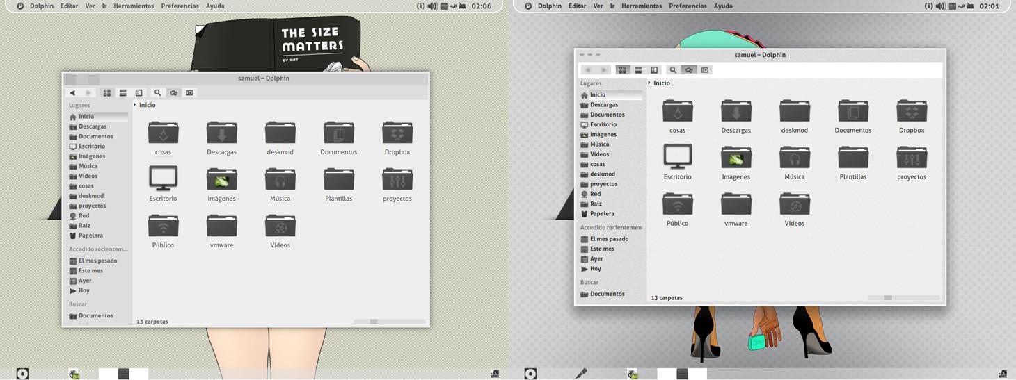 KDE flat-themes preview by samuaz