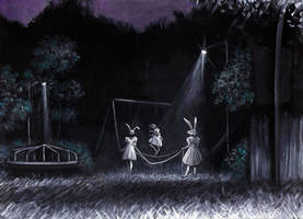 Two Rabbits Playing With Death by tboersner