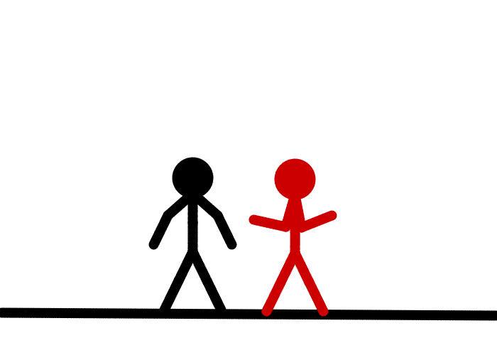 Stick Figure Fighting Animation