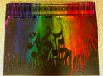 Melted Crayon Art - After