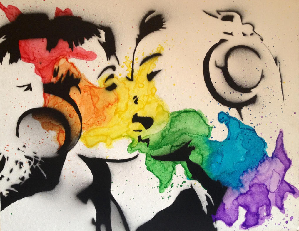 Kiss in Color by ArtemAmoris