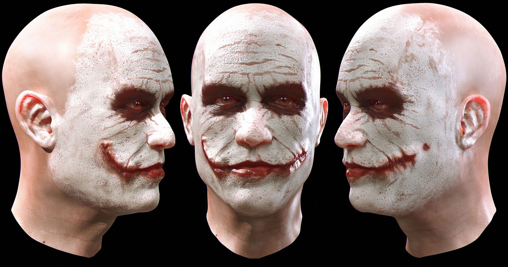Zbrush Joker revisited by alexanderstojanov