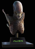 Alien Bust Zbrush by alexanderstojanov