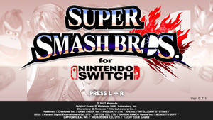 Smash Bros. for Switch Title Screen (Leak)