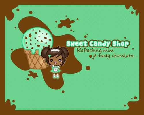 Sweet mint ice cream
