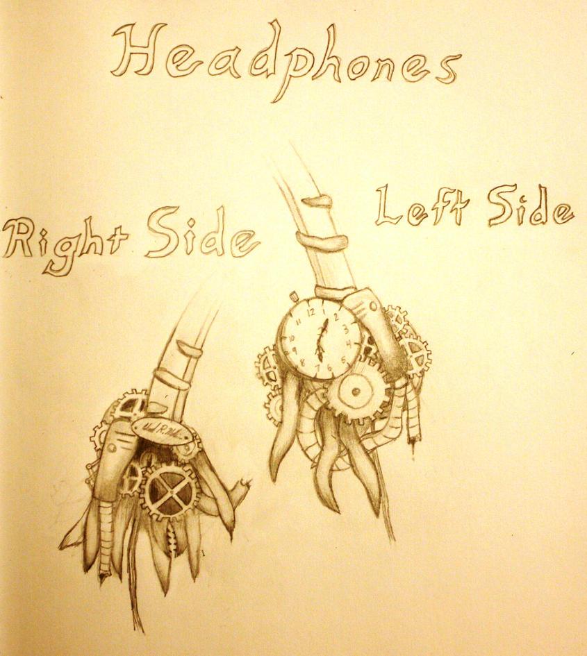 Steampunk Headphones Design by Draughtman