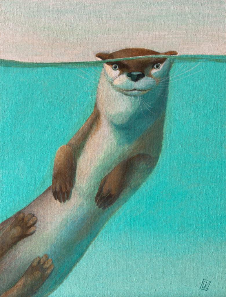 Otter by Ivan-Kovalevskiy