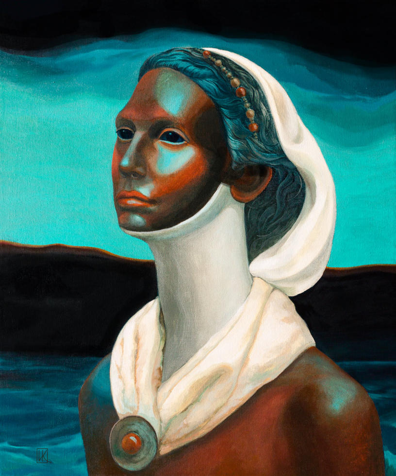The Surreal portrait of an Egyptian girl by Ivan-Kovalevskiy