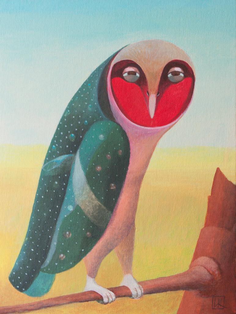 Red Barn Owl by Ivan-Kovalevskiy
