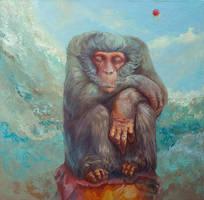 The shaman monkey by Ivan-Kovalevskiy