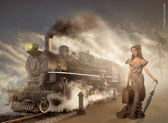 9.nathalie Callenaere Photomontage Train