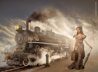 9.nathalie Callenaere Photomontage Train by BOULPIX