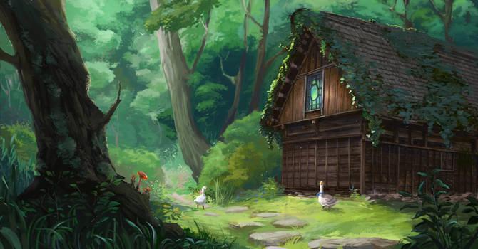 Geese hut