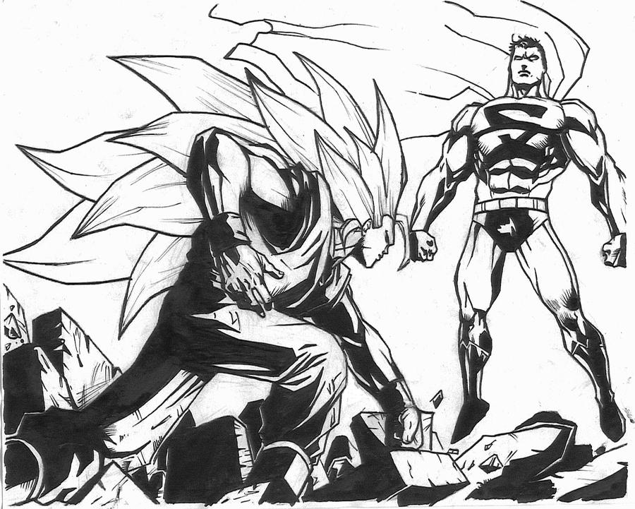 Ssj3 Goku and Superman by LilNekoblade on DeviantArt