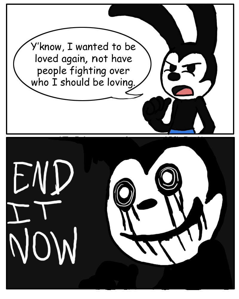Oswald's Response to Fan War by Chyro999