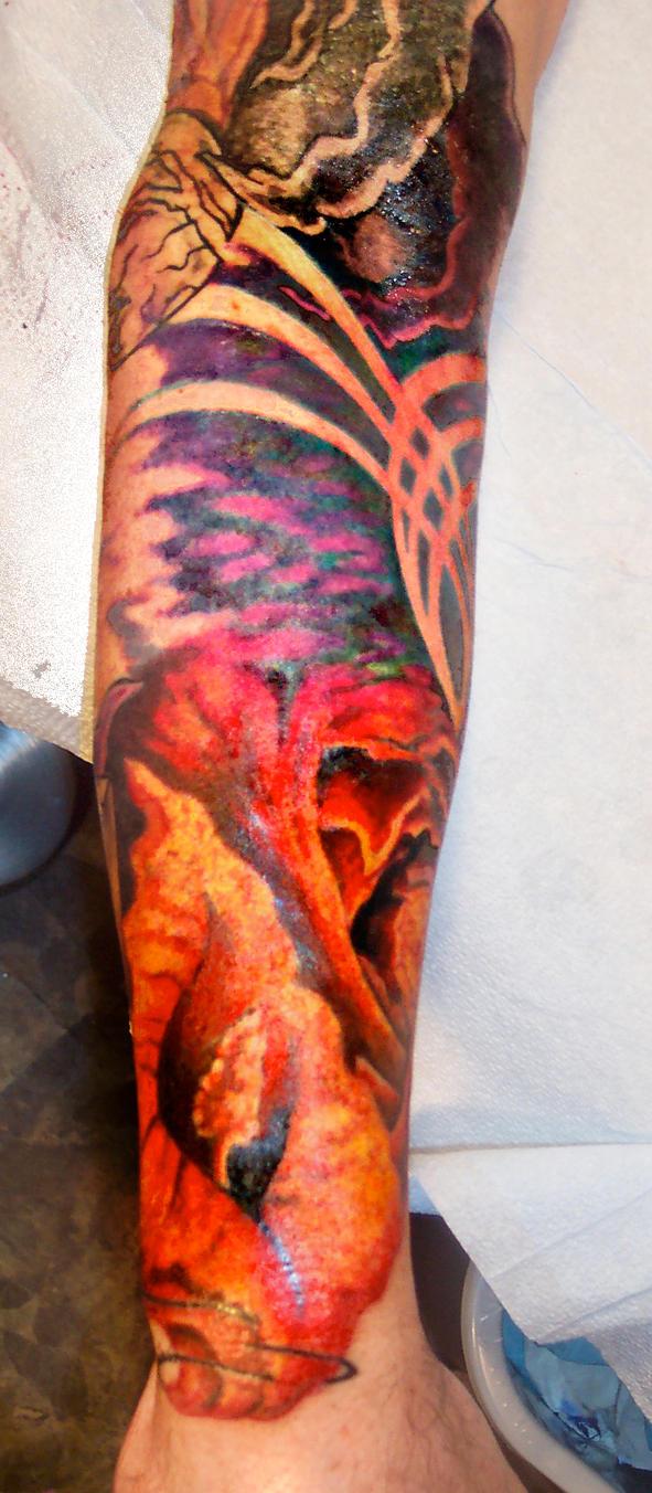 Lower Sleeve In Progress - sleeve tattoo