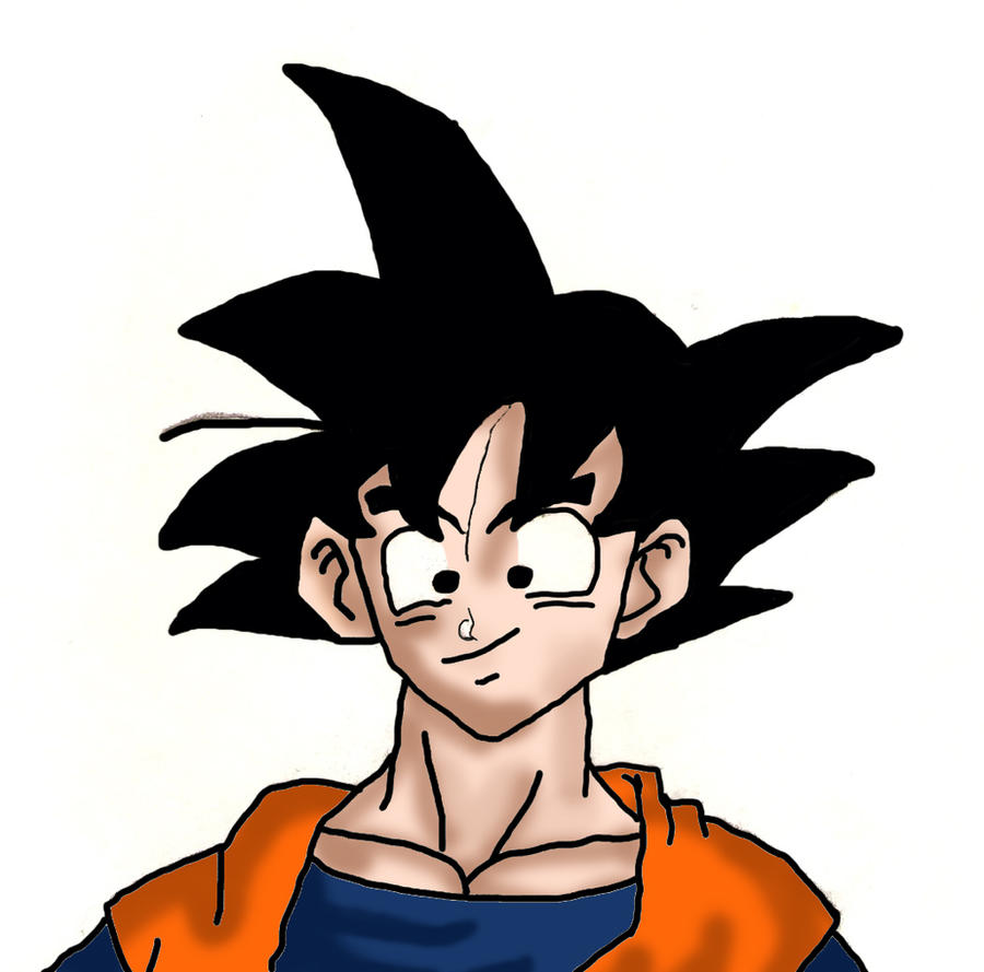 Goku sketch 2 colored by niggyd