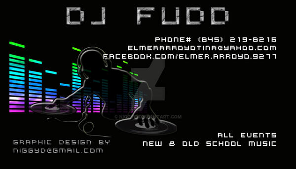 DJ Fudd Business Card By Niggyd