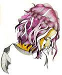 Purple Girl Lineart