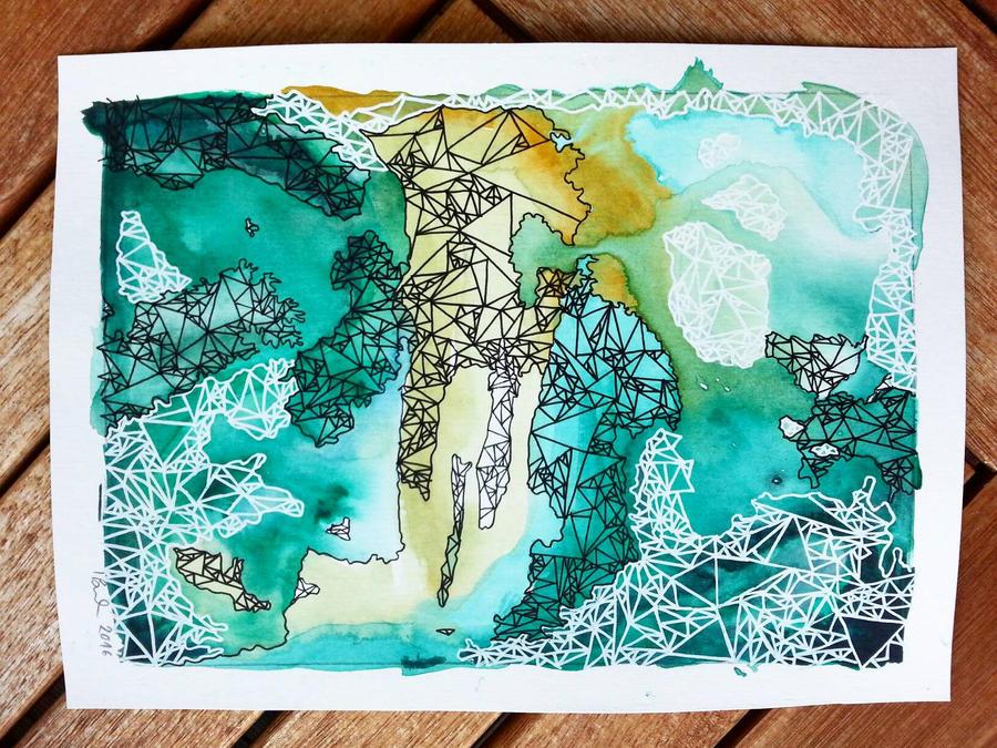Geometric Abstract: Islands