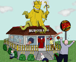 Burger King in Yellow by Amazonne