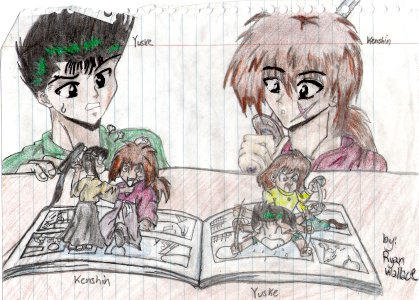 KENSHIN and YUSUKE by IrrelevantTheme
